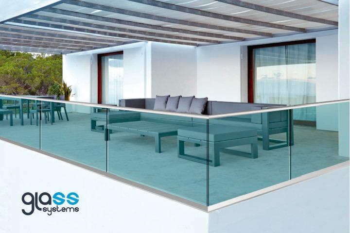 Barandal de cristal con aluminio y pasamanos glass systems - Pasamanos de cristal ...