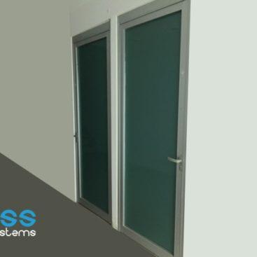 Puerta pesada de aluminio